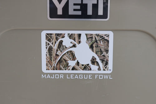 Shadow Grass Logo Waterfowl Decal With Text