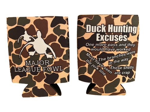 *NEW* Old School Camo Hunting Excuses Koozie