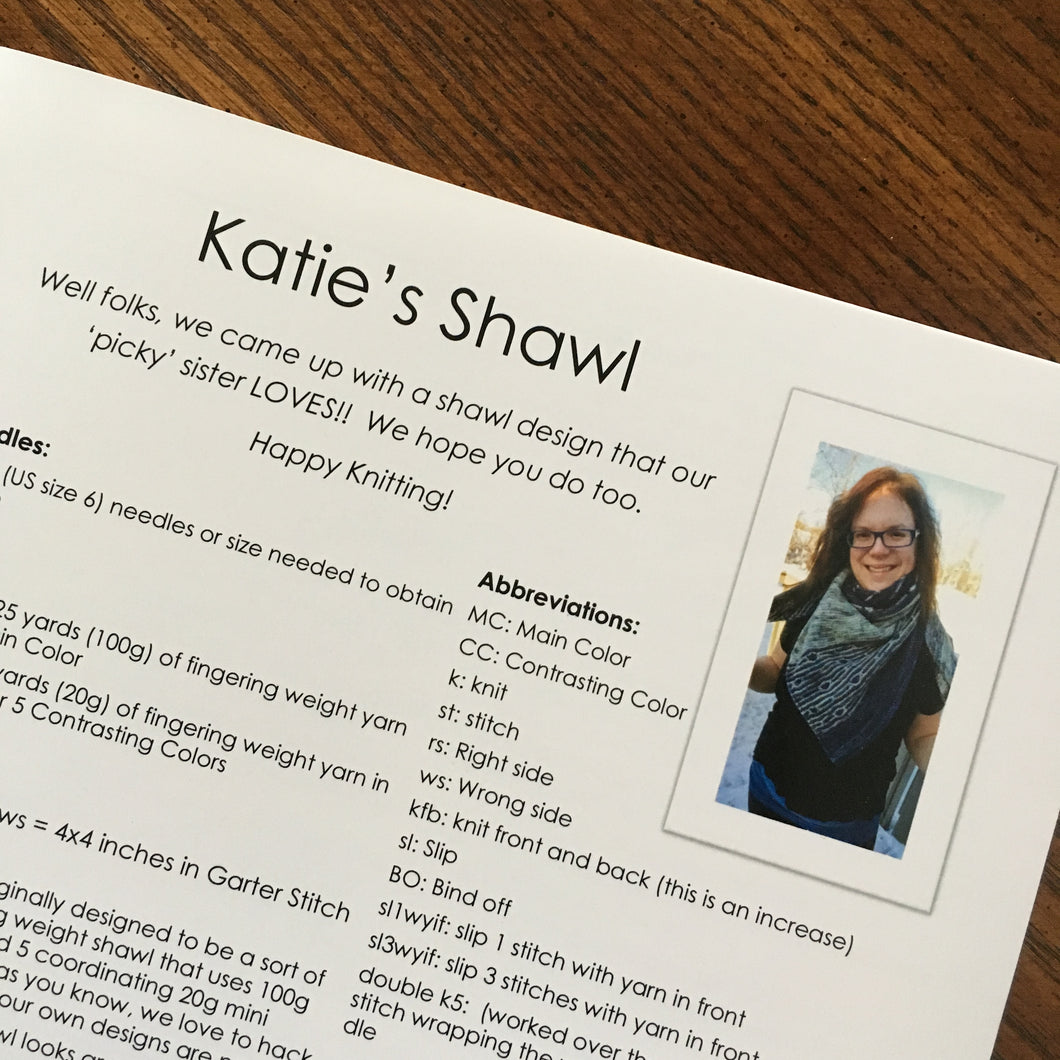 Katie's Shawl Pattern by Cozy Up Knits - Hard Copy & Digital Download Code Included