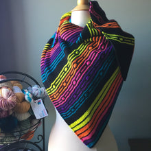 Neon Pop's Shawl Kit on Anna's Sock - No Pattern
