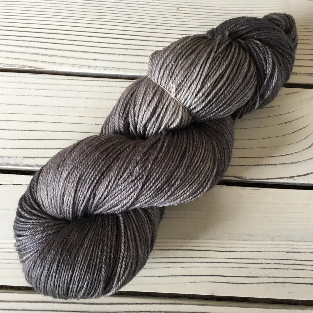 Smoke on Merino Cashmere Sparkle Fingering