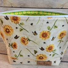 SMALL Monarch & Sunflowers Project Bag