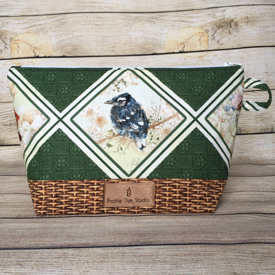 SMALL Bird Project Bag - Blue Jay