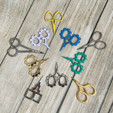 BLUE Flower Power Kelmscott Designs Embroidery Scissors