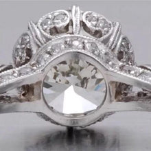 2.02 Ct. Edwardian Style Platinum Engagement Ring VS2-SI1 F