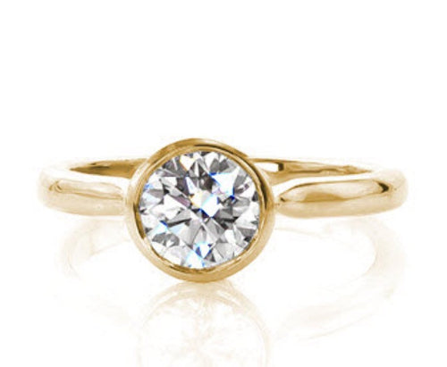 1.06 Ct. Bezel in Yellow Gold
