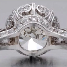 4.00 Ct EDWARDIAN Style Platinum Engagement Ring