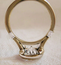 2.06 Ct Round Bezel Set GENUINE Diamond Engagement Ring VS2-SI1 - F 14K & Platinum