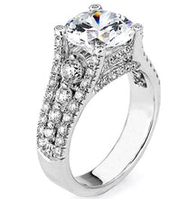 3.10 Ct. Round Solitaire Diamond Engagement Ring VS2 F