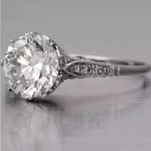 Edwardian Antique Style Platinum Diamond Engagement Ring 2.10 Ct