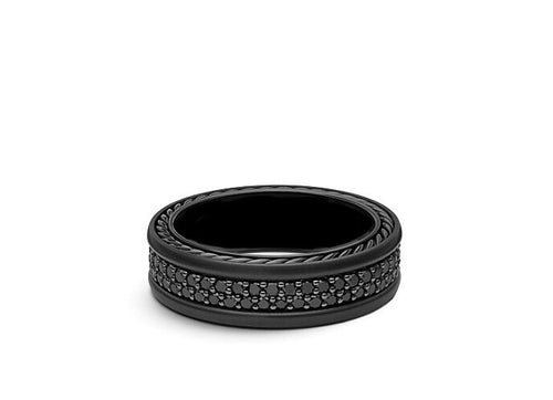 Men's Black Diamond Wedding Band 1.30 Ct.
