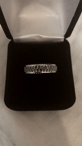 Men's Black Diamond Wedding Ring