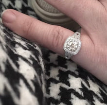 1.79 Ct Edwardian Antique/Style Genuine Diamond Engagement Ring VS2-SI1 E-F