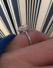 2.53 Ct Oval Halo GENUINE Diamond Engagement Ring VS2 F