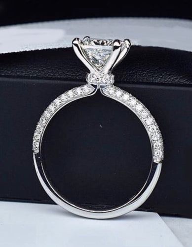 1.60 ct Genuine Diamond Solitaire Engagement Ring Non Enhanced VS2-F