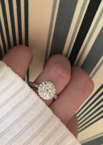 3.50 Ct. Diamond Platinum Engagement Ring VS2 F