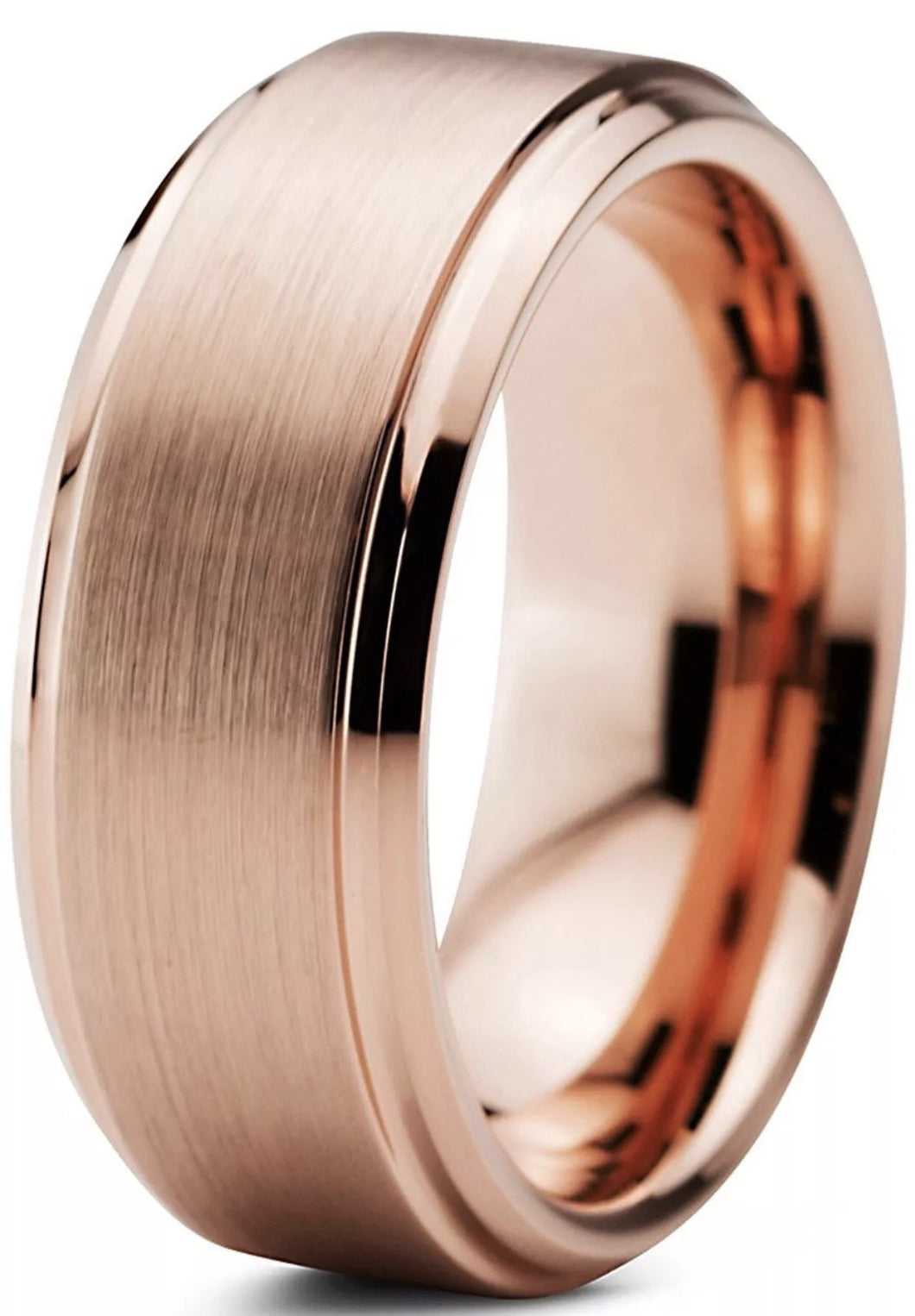 Tungsten - Rose Gold Wedding Band