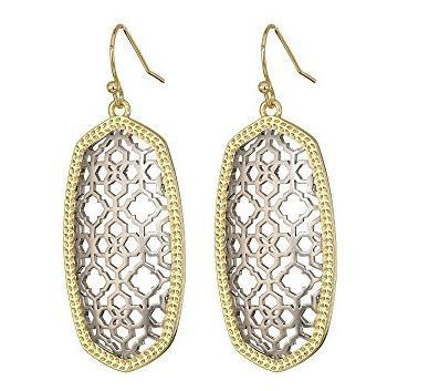 Elle Earring in Gold with Silver Filigree