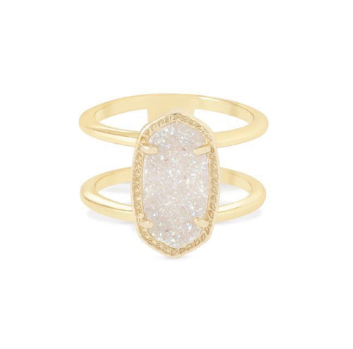 Elyse Ring Gold in Iridescent Drusy