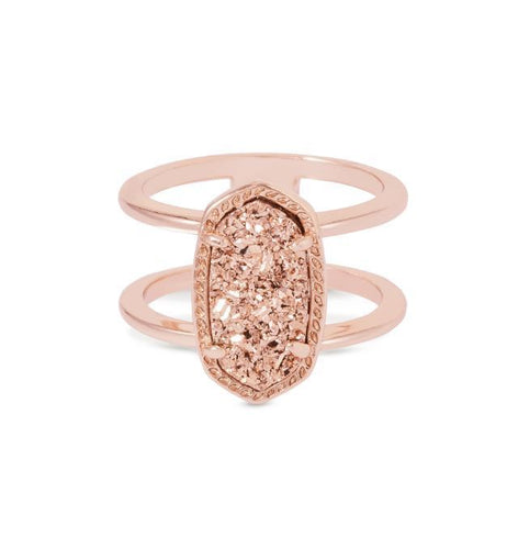 Elyse Ring in Rose Gold with Rose Gold Drusy