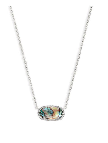 Elisa Necklace Silver Abalone Shell