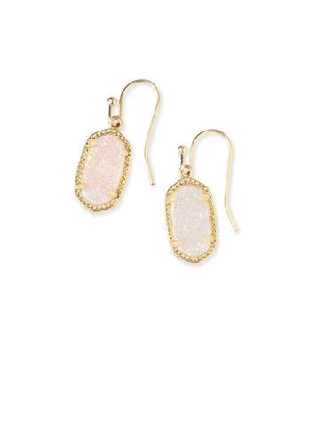 Lee Gold Earrings In Iridescent Drusy
