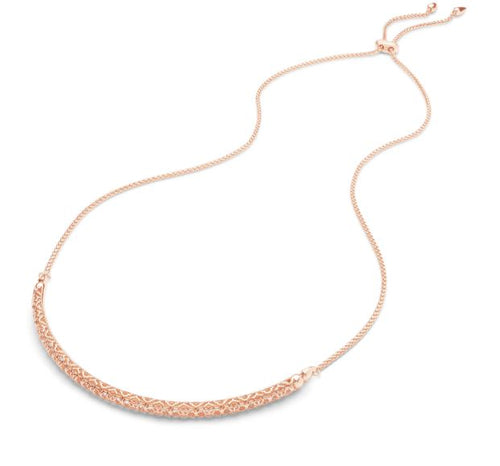 Goldie Rose Gold Choker Necklace In Rose Gold Filigree