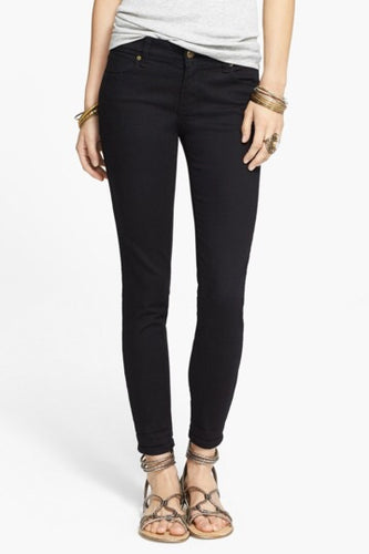 Roller Crop Skinny Jean in Black