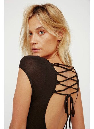 All About The Back Bodysuit - Black