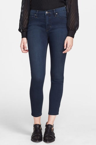 Gummy High Rise Crop Jeans - Cane Wash