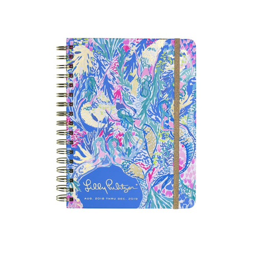 Lilly Pulitzer Large 17 Month Agenda - Mermaid Cove