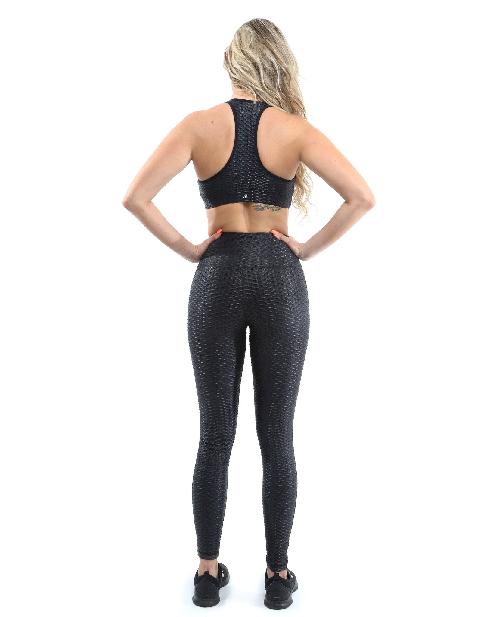 Activa Lux Activeware Set - Leggings & Sports Bra - Black [MADE IN ITALY]