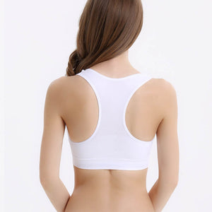 Active Mesh Sports Bra With Racerback