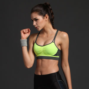 Running Push Up Sports Bra