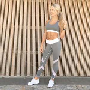 Active High-Waist Grey Leggings