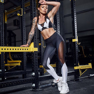 Active High-Waist Leggings With Side Mesh