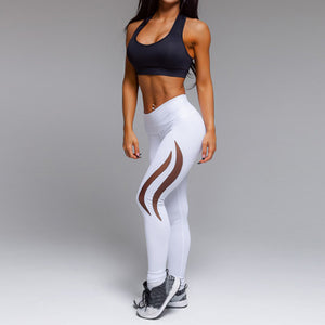 Active High-Waist White Leggings