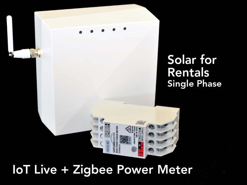 Residential Solar for Rentals Kit 4G LTE CAT-1 Zigbee