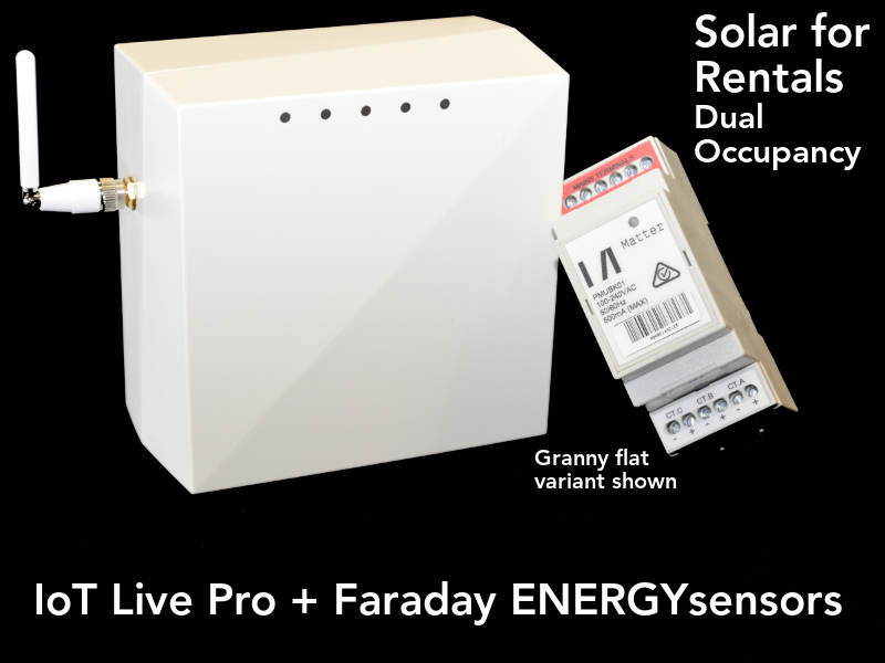 Solar for Rentals DUAL OCCUPANCY RETROFIT KIT with Faraday ENERGYsensor with PLC