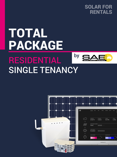 Solar for Rentals RESIDENTIAL SINGLE DWELLING 5kW Solar TOTAL PACKAGE (REGULAR) with SS LTE (4G) IoT Service - Installed by SAE