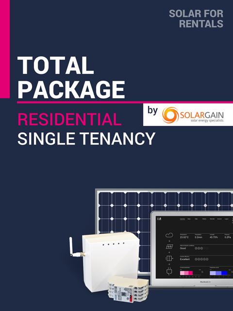 Solar for Rentals RESIDENTIAL SINGLE DWELLING 5kW Solar TOTAL PACKAGE (REGULAR) with SS LTE (4G) IoT Service - Installed by Solargain