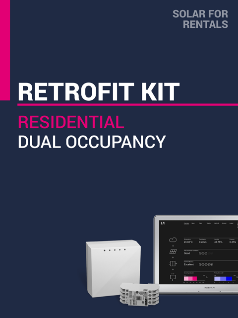 Solar for Rentals DUAL OCCUPANCY RETROFIT KIT with LTE (4G) IoT Service