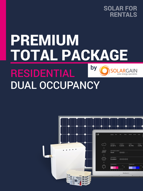 Solar for Rentals RESIDENTIAL DUAL OCCUPANCY TOTAL 5kW Solar PACKAGE (PREMIUM) with Faraday LTE (4G) IoT Service- Installed by Solargain