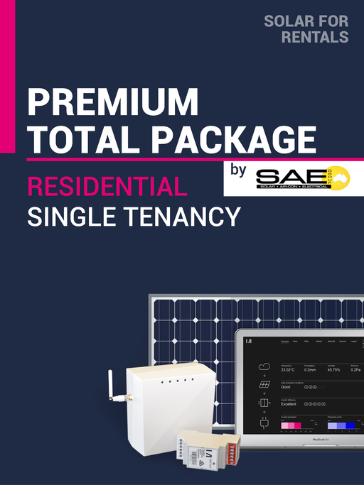 Solar for Rentals RESIDENTIAL SINGLE DWELLING 5kW Solar TOTAL PACKAGE (PREMIUM) with Faraday LTE (4G) IoT Service - Installed by SAE