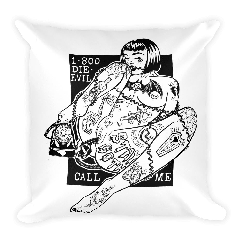 CALL ME! Square Pillow