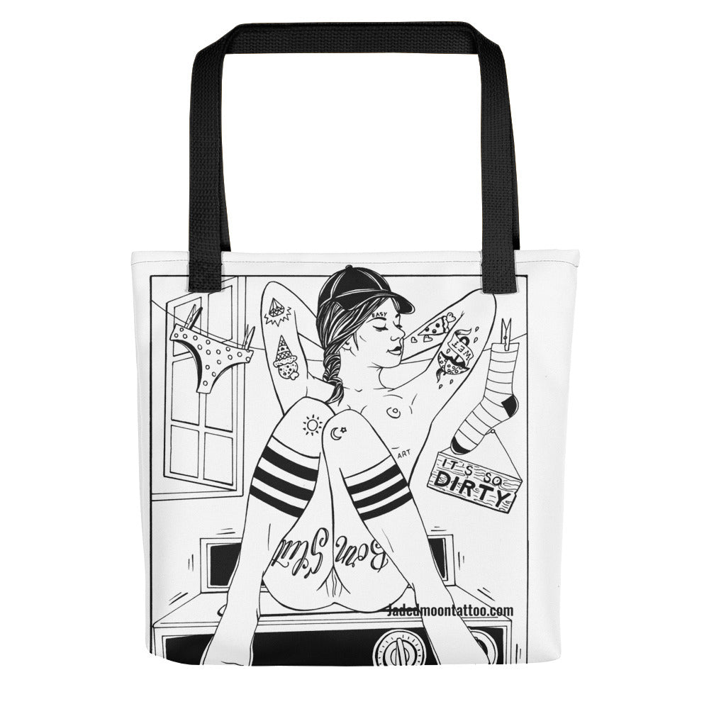 Spin cycle Tote bag