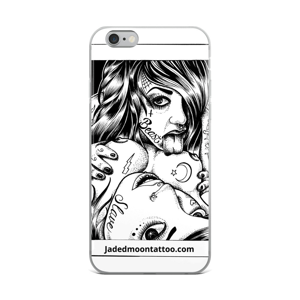 Chicks over dicks iPhone Case