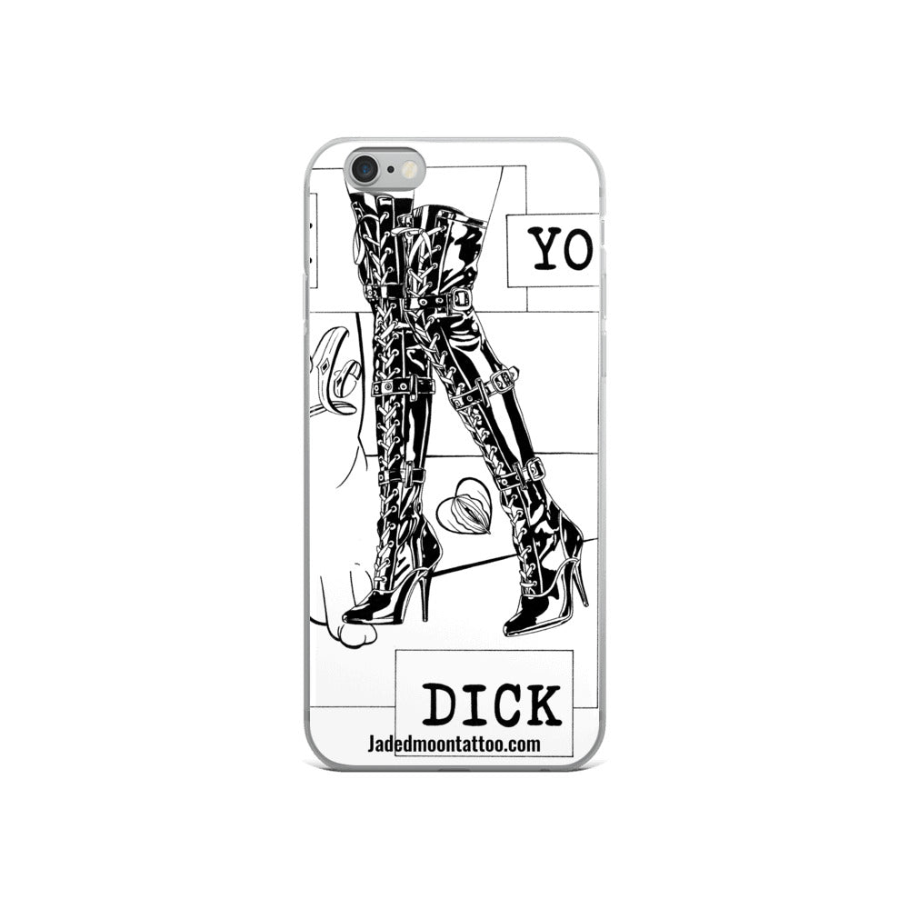 Fuck yo dick iPhone Case