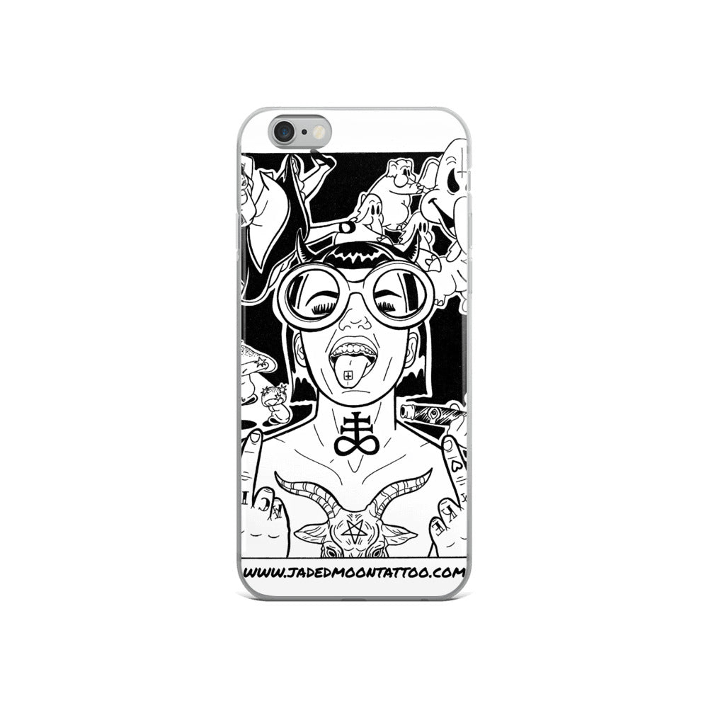 Take Drugs For Satan iPhone Case