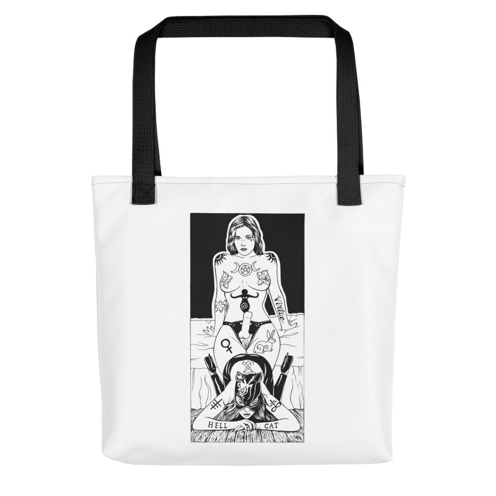 Hell cat Tote bag